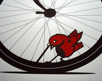 Early Bird - Artcrank Interbike 2011 Screen Printed Bike Poster