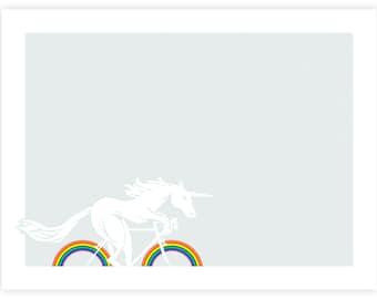 Riding Rainbows - Artcrank 2018 Screen Printed Bike Poster