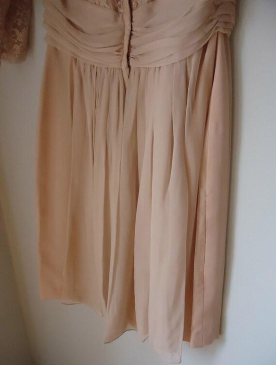 1950s Dress - Blush - Pink Lace - Chiffon - Vinta… - image 3