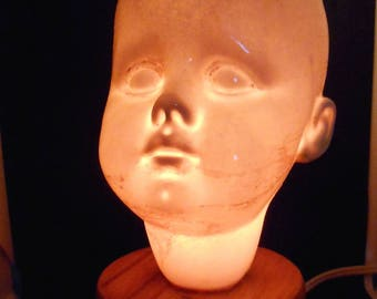 Holey Baby Head Ceramic Mood Lamp