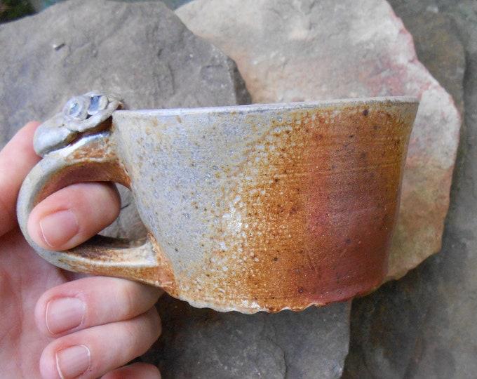 Woodsy Clay Baby Head Thrown Mug