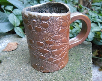Ceramic Woodsy Lace Mug