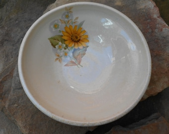 Creamy Flower Clay Bowl