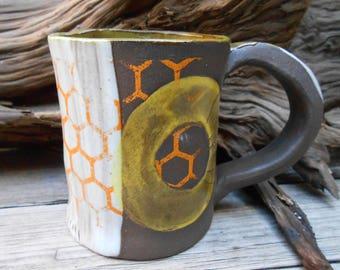 Safari Hand Built Clay Mug