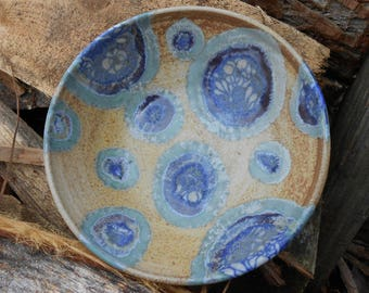 Spotted Flower Wood Fired Ceramic Bowl