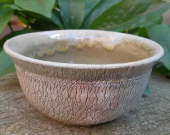 Cracked Earth Ceramic Bowl