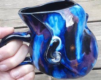 Outerspace Baby Head Ceramic Mug