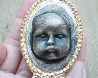 Ceramic Baby Face Pendant Large