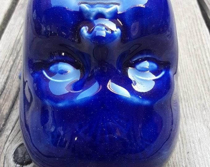 Blue Fan Clay Baby Head