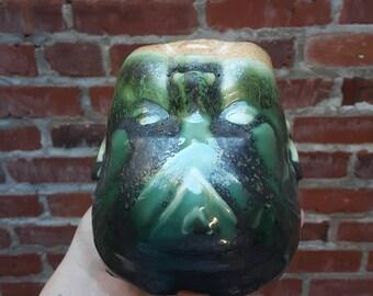 Metallic Green Baby Head Clay Mug
