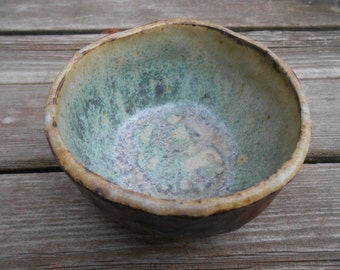 Emerald Lakes Ceramic Wood Fired Bowl