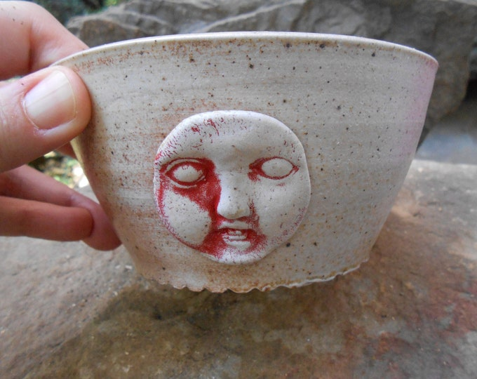 Doll Face Clay Bowl