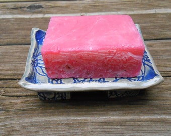 Blue Lace Clay Soap Dish