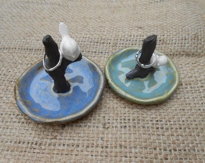 SALE Ceramic Birdie Ring Dish