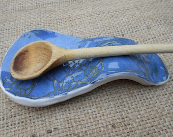 Blue Lace Clay Spoonrest ON SALE