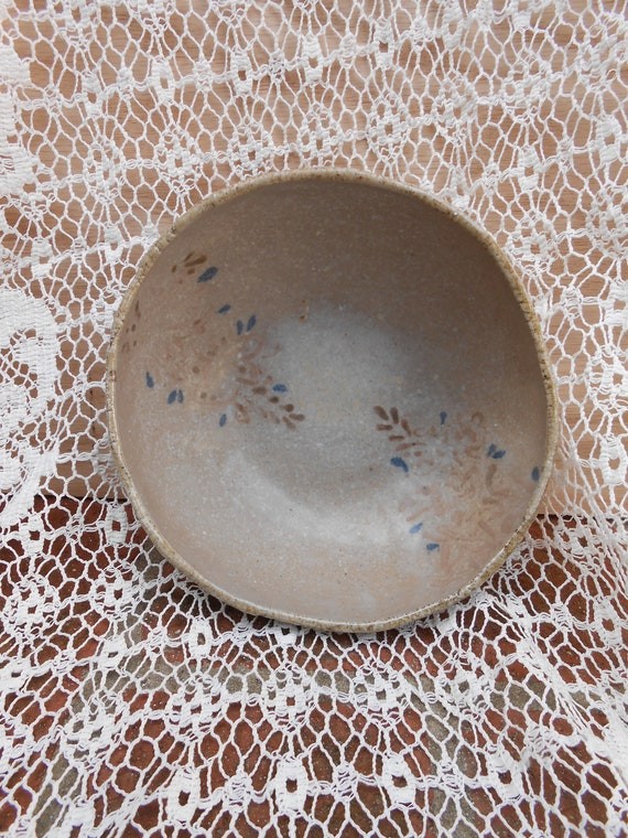 Laced Wood Fired Clay Bowl