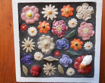 Flower Flower Baby Wall Mounted Mosaic
