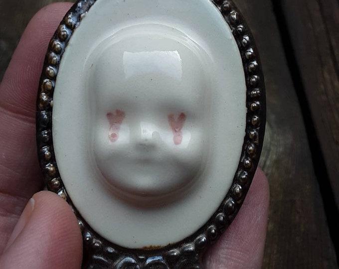 Doll Face Ceramic Pendants/Ornaments (multiple)