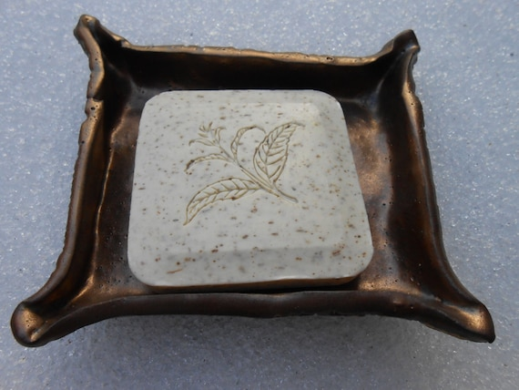 Golden Lace Clay Soap Dish