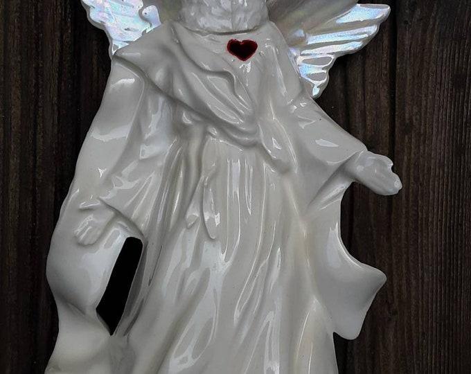 Coyote Angel Clay Sculpture