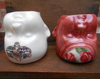 Mini Ceramic Baby Head