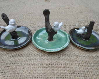 Large Birdie Ceramic Ring Dishes