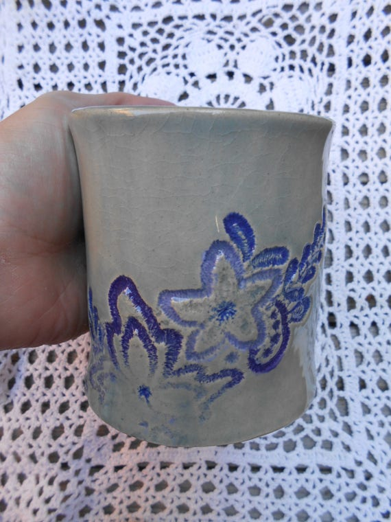 Lacy Blue Ceramic Mug