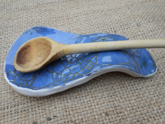 Blue Lace Clay Spoonrest