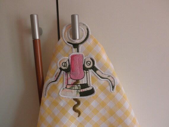 ServiettenVichy Loch Applique Handtuch Und GelbHandgefertigte Karo Mit KorkenzieherKüchentücherHousewears Küche 34LcRAjq5