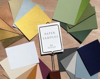 Paper Samples Pack for Papercut Ketubah | Woodland Papercuts