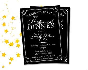 golf retirement party invitations golf par tee invitation etsy