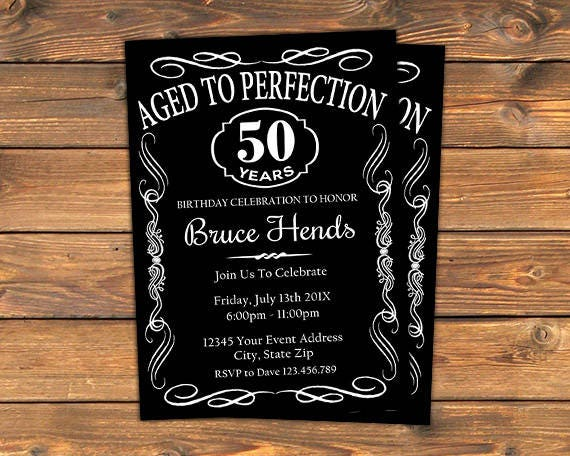 Aged To Perfection Birthday Party Invitation Printable Vintage Whiskey Bourbon Invitation Cards Retirement Invite Any Age Or Event