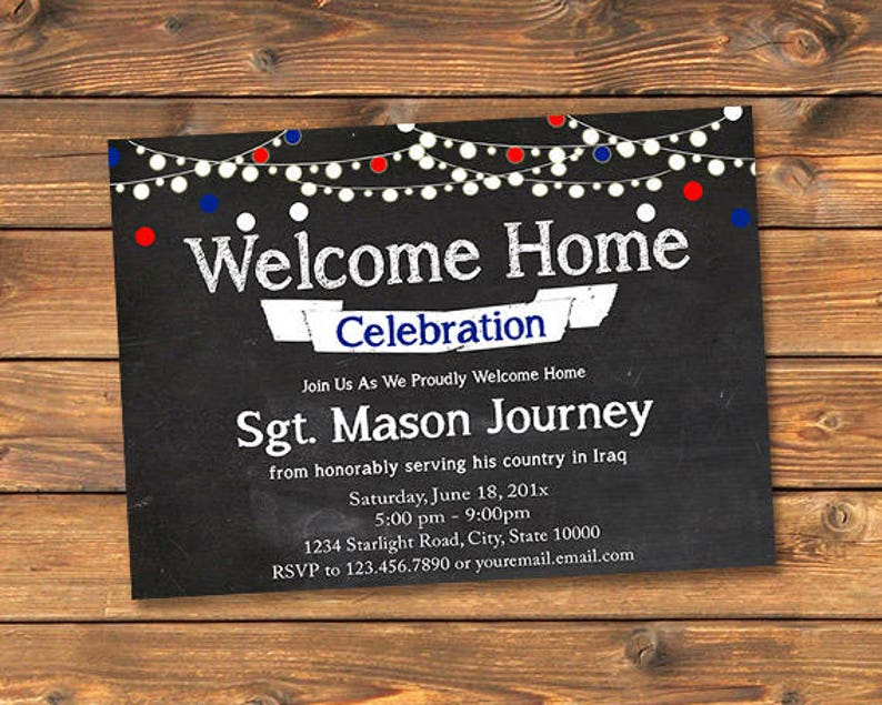 Military Welcome Home Party Invitation Printable Homecoming Etsy