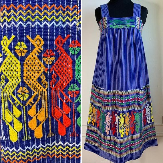 Vintage Multicolor Bohemian Chic Sun Dress
