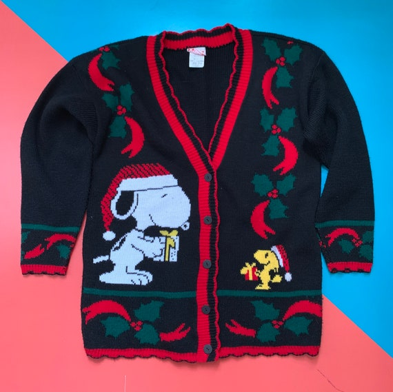 Snoopy and Friends Christmas Cardigan Sweater