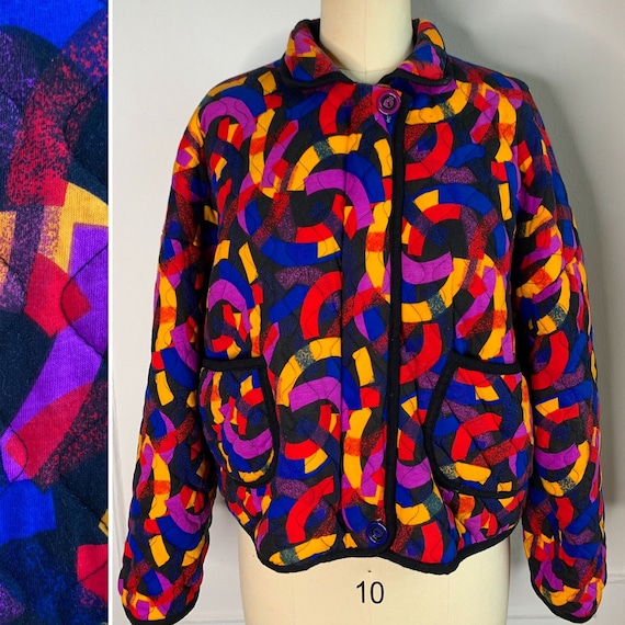 Vintage Quilted Multicolored Jacket