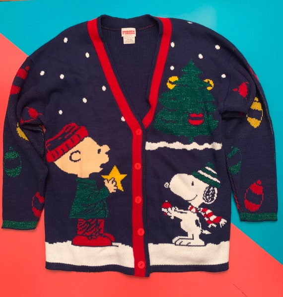 Vintage Snoopy and Friends Cardigan Sweater