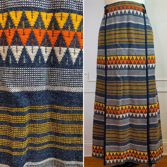 Vintage 70s Wool Maxi Skirt