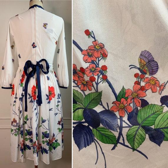 Vintage Summer Floral Midi Dress - image 7
