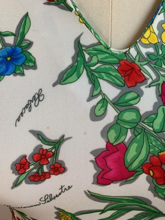 Vintage 70s Floral Printed Maxi Summer Dress - image 7