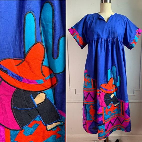 Vintage 70's Kaftan Cotton Sun Dress