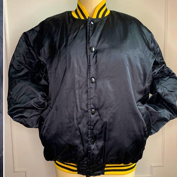 Vintage Yellow and Black Baseball Varsity Jacket