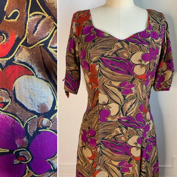 Vintage 90s Floral Maxi Dress