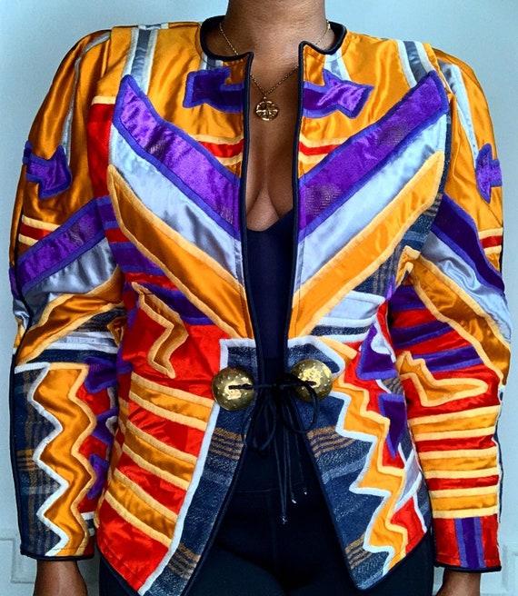 Vintage Multicolor Patchwork Jacket