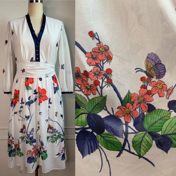 Vintage Summer Floral Midi Dress - image 3