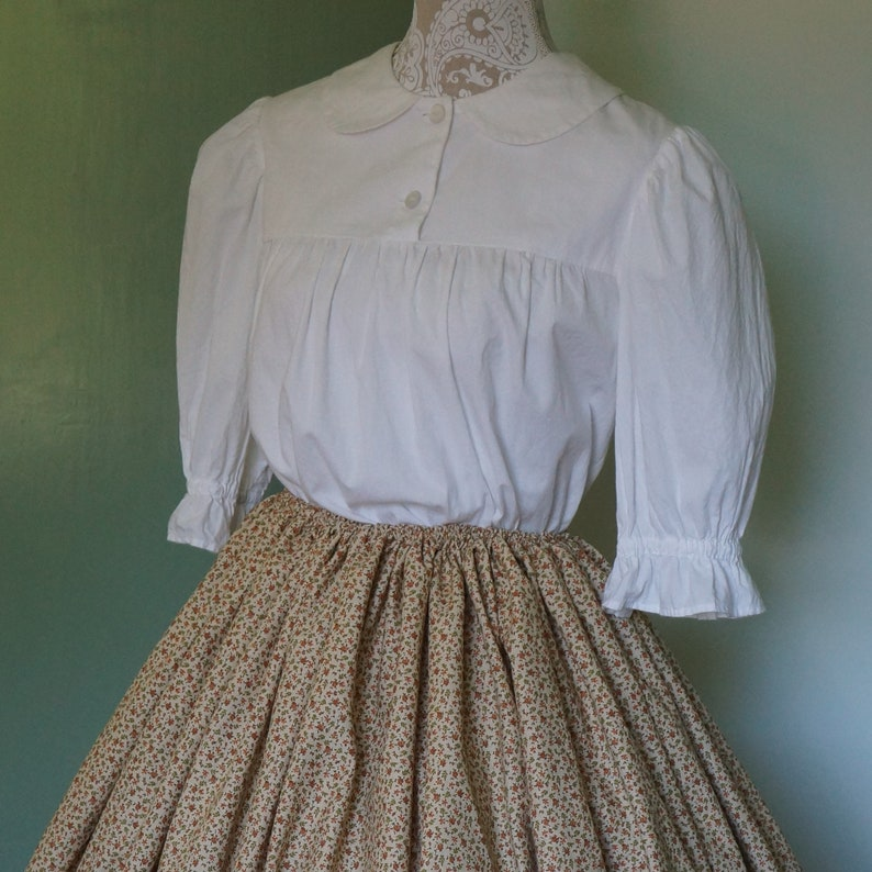 Victorian Clothing, Costumes & 1800s Fashion Ladies Collared Yoked Blouse Custom Order | Modest Clothing | Modest Blouse | White | Yoked blouse | Peasant Blouse $54.97 AT vintagedancer.com