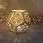 5 per Geometric Votive Holder Metal / Gold / Rose Gold / Wedding Party Reception Decor / Tea light Holder / Contemporary design