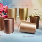 25 per Gold Glitter Glass Votive Candle Holders for Weddings and Parties, Glitter , Wedding decoration, Rose Gold, Neutrals, 25 in order