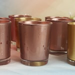 Metallic Gold Mercury Glass Votive Candle Holder for Weddings and Parties, 20 Gold or Silver Mercury Style