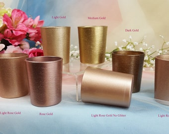 Plastic Dummy Clips Multiple quantities available Rose Gold Copper Glitter